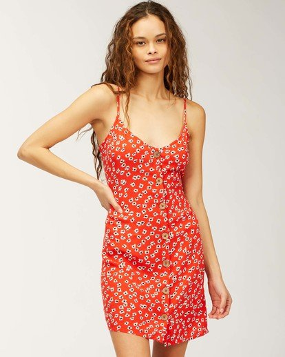 3 Sweet For Ya Dress Red ABJWD00205 Billabong