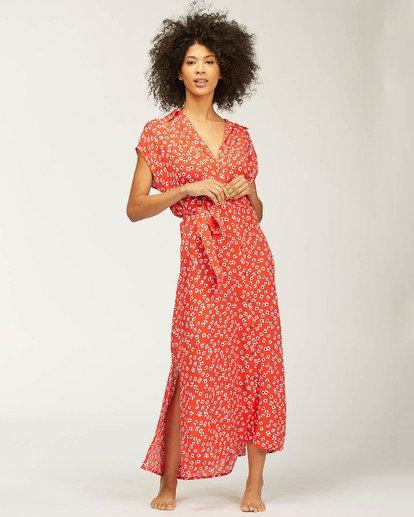 0 Little Flirt Maxi Dress Red ABJWD00207 Billabong