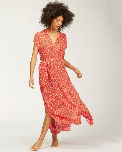 3 Little Flirt Maxi Dress Red ABJWD00207 Billabong