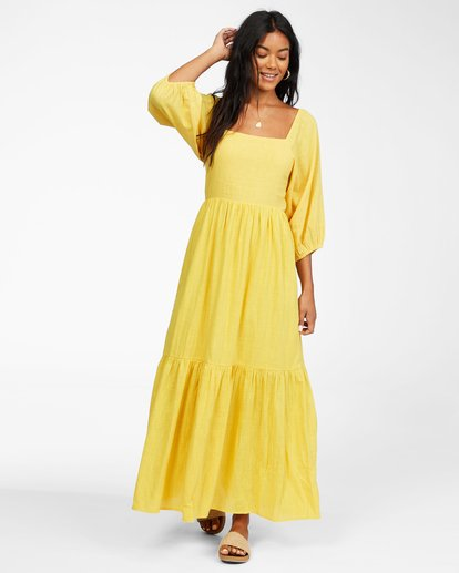1 Dream Chaser Dress Yellow ABJWD00216 Billabong
