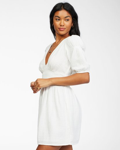 1 Spellbound Woven Dress White ABJWD00224 Billabong