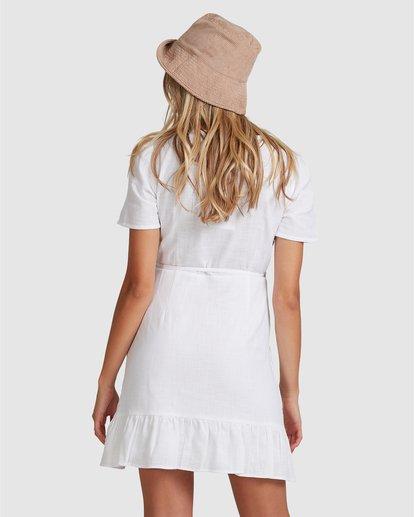 2 Crosshatch Wrap Mini Dress White ABJWD00242 Billabong