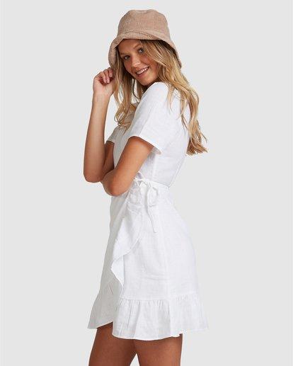 1 Crosshatch Wrap Mini Dress White ABJWD00242 Billabong