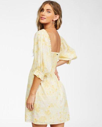 3 Groovy Girl Woven Dress Yellow ABJWD00246 Billabong