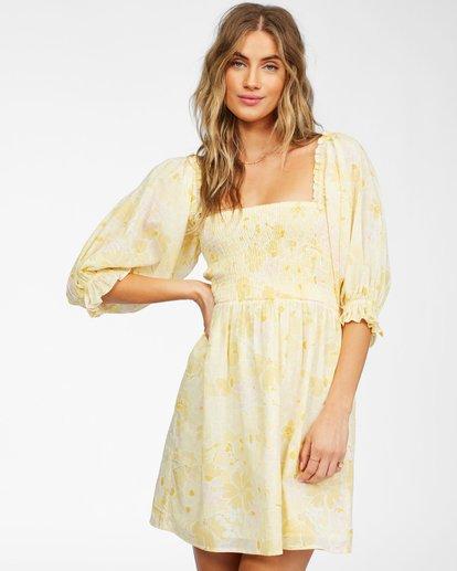 1 Groovy Girl Woven Dress Yellow ABJWD00246 Billabong