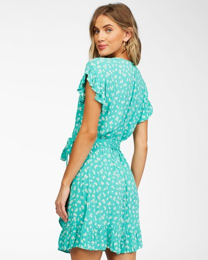 2 Wrap And Roll Woven Dress Green ABJWD00247 Billabong