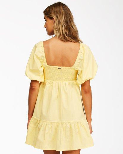 3 Be Mine Babydoll Dress Yellow ABJWD00253 Billabong