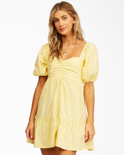 1 Be Mine Babydoll Dress Yellow ABJWD00253 Billabong