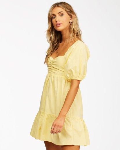2 Be Mine Babydoll Dress Yellow ABJWD00253 Billabong