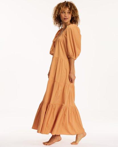 3 Endless Shore Maxi Dress Brown ABJWD00261 Billabong