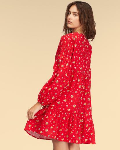 3 Wrangler Falling For You Dress Red ABJWD00265 Billabong