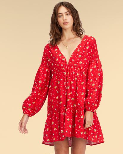 1 Wrangler Falling For You Dress Red ABJWD00265 Billabong