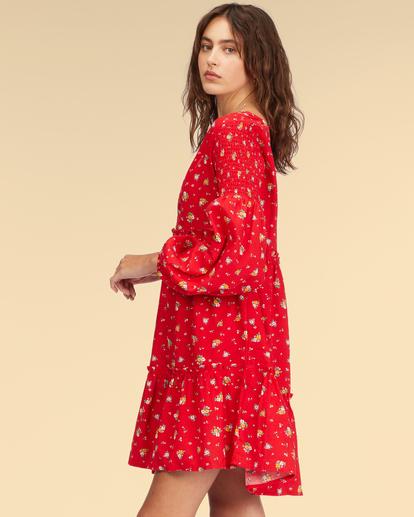 2 Wrangler Falling For You Dress Red ABJWD00265 Billabong