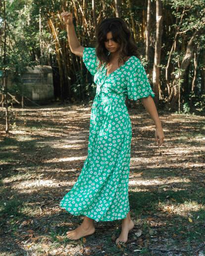 1 Wrangler Floral Dream Dress Green ABJWD00266 Billabong