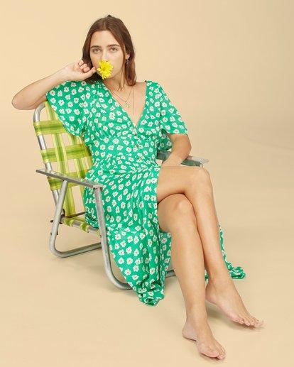 6 Wrangler Floral Dream Dress Green ABJWD00266 Billabong