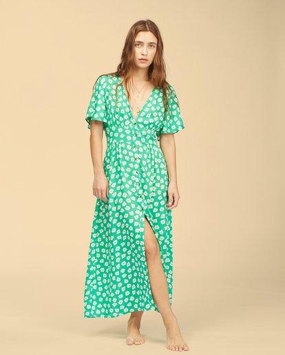 2 Wrangler Floral Dream Dress Green ABJWD00266 Billabong