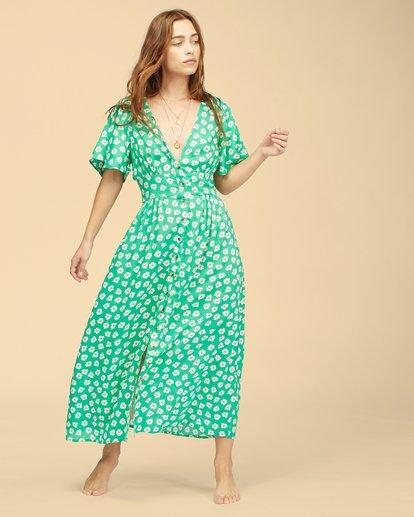 5 Wrangler Floral Dream Dress Green ABJWD00266 Billabong