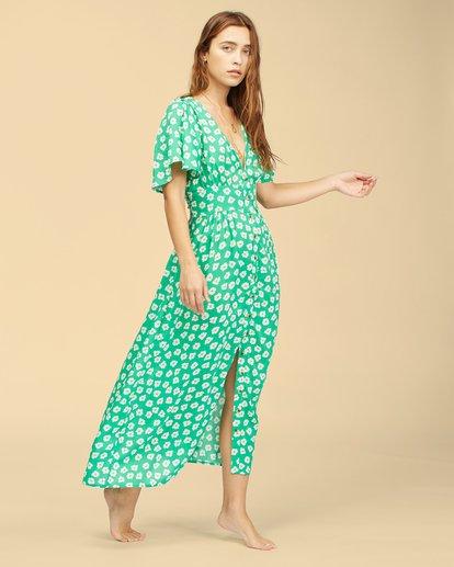 3 Wrangler Floral Dream Dress Green ABJWD00266 Billabong
