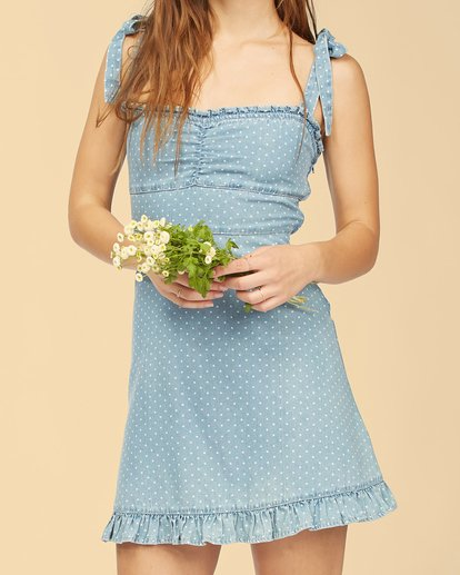 6 Wrangler Lovely Day Dress Blue ABJWD00269 Billabong