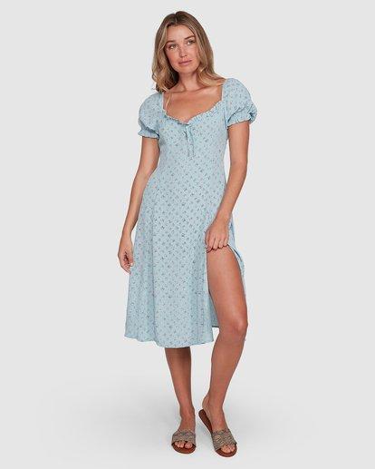 3 Seamist Midi Dress Blue ABJWD00274 Billabong