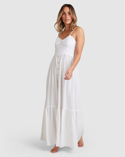 10 Franca Midi Dress White ABJWD00281 Billabong