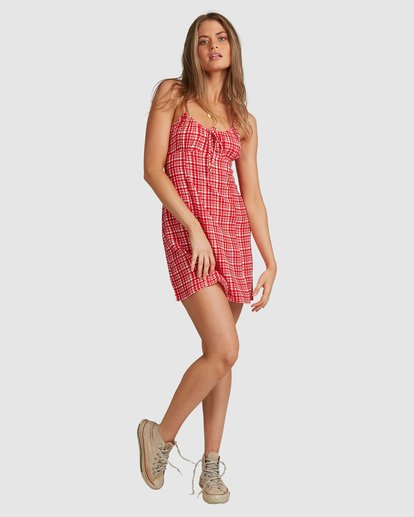 5 Git It Gingham Dress - Steph Claire Smith Multicolor ABJWD00289 Billabong