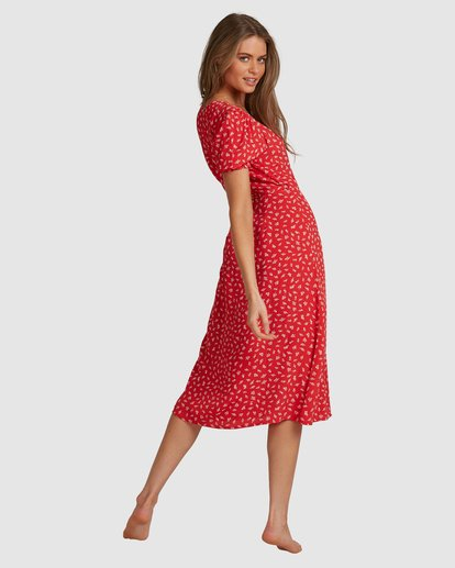 3 Cherry Bomb Midi Wrap Dress - Steph Claire Smith Multicolor ABJWD00290 Billabong