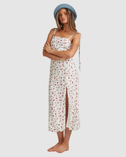 1 Sweet Soul Midi Dress - Steph Claire Smith White ABJWD00291 Billabong