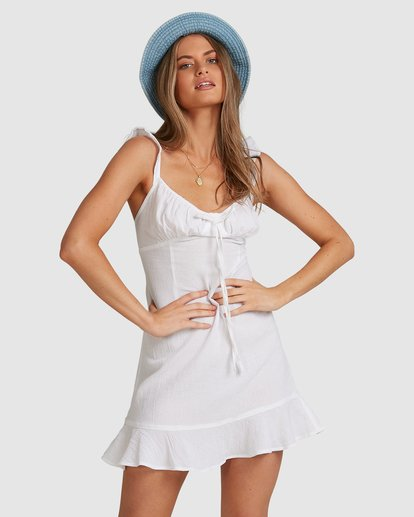 3 Beach Bliss Dress - Steph Claire Smith White ABJWD00293 Billabong