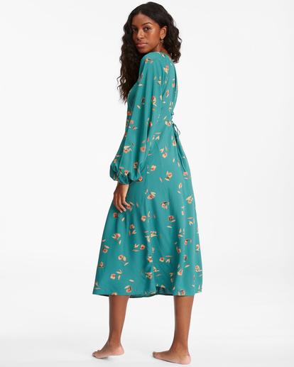 3 Sweet To Me Long Sleeve Maxi Dress Green ABJWD00333 Billabong
