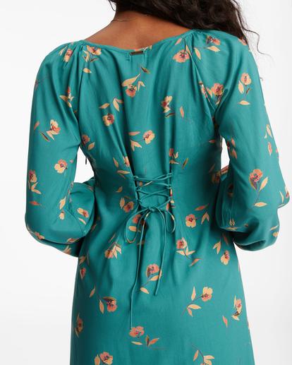 5 Sweet To Me Long Sleeve Maxi Dress Green ABJWD00333 Billabong