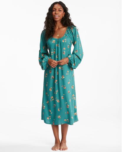 1 Sweet To Me Long Sleeve Maxi Dress Green ABJWD00333 Billabong