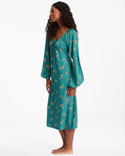 2 Sweet To Me Long Sleeve Maxi Dress Green ABJWD00333 Billabong