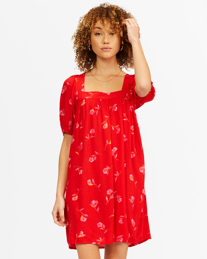 0 Bay Side Babydoll Dress Red ABJWD00337 Billabong