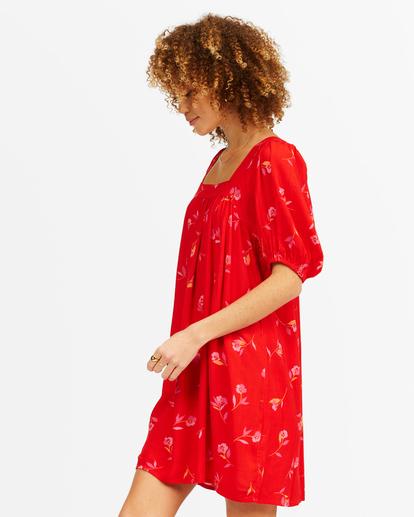 1 Bay Side Babydoll Dress Red ABJWD00337 Billabong