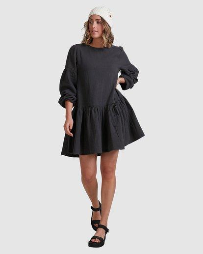 5 Wishes Tiered Dress Black ABJWD00346 Billabong