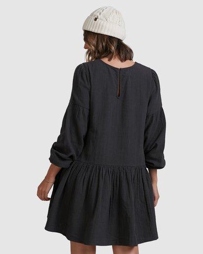 2 Wishes Tiered Dress Black ABJWD00346 Billabong