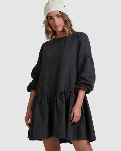 0 Wishes Tiered Dress Black ABJWD00346 Billabong