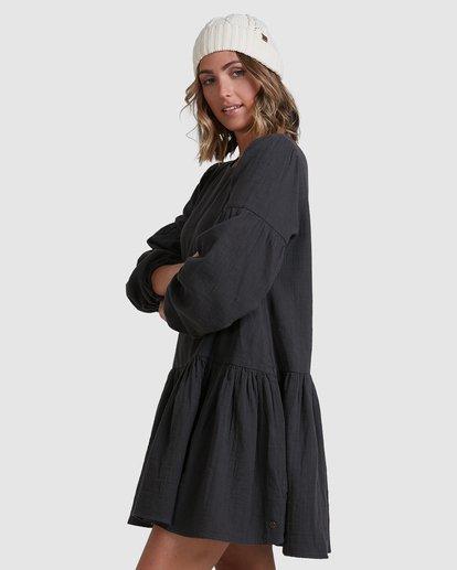 1 Wishes Tiered Dress Black ABJWD00346 Billabong