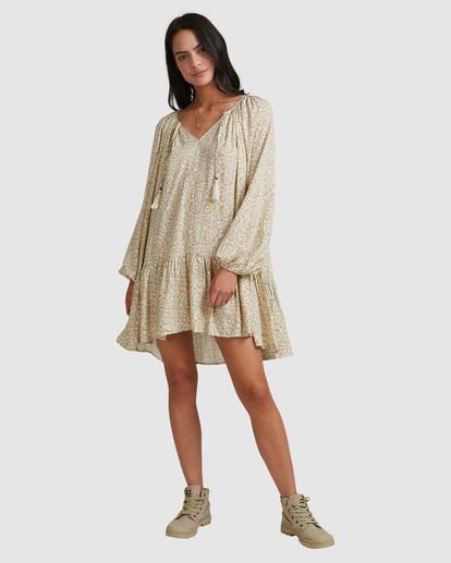 6 Dream Isle Charmer Mini Dress Beige ABJWD00378 Billabong