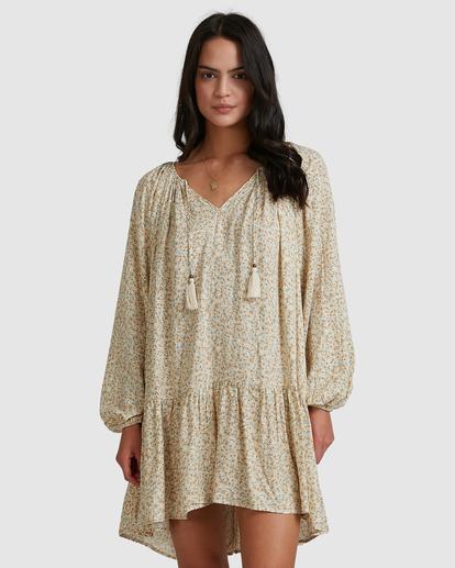 4 Dream Isle Charmer Mini Dress Beige ABJWD00378 Billabong