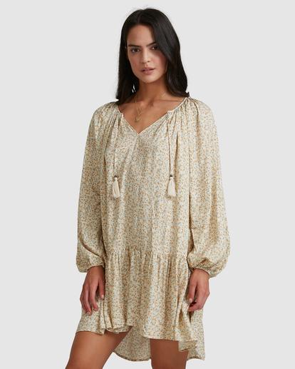 2 Dream Isle Charmer Mini Dress Beige ABJWD00378 Billabong