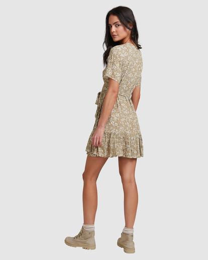 2 Little River Wrap Mini Dress Green ABJWD00380 Billabong