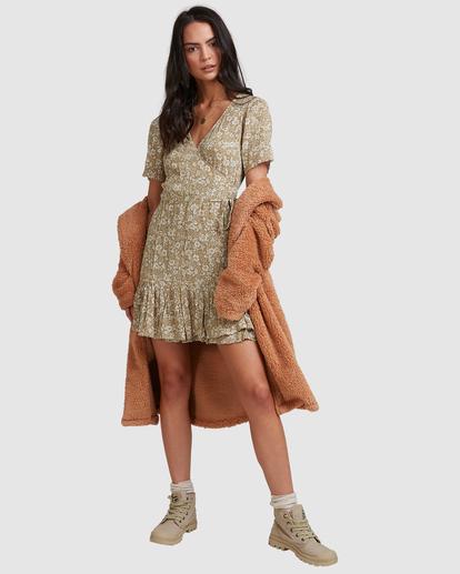 0 Little River Wrap Mini Dress Green ABJWD00380 Billabong