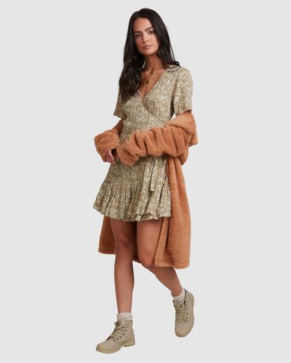 1 Little River Wrap Mini Dress Green ABJWD00380 Billabong