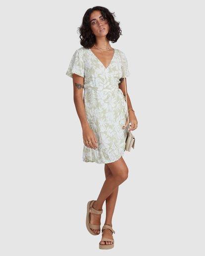 5 Honey Dew Wrap Dress Green ABJWD00382 Billabong