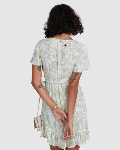 3 Honey Dew Wrap Dress Green ABJWD00382 Billabong