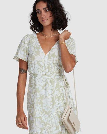 4 Honey Dew Wrap Dress Green ABJWD00382 Billabong