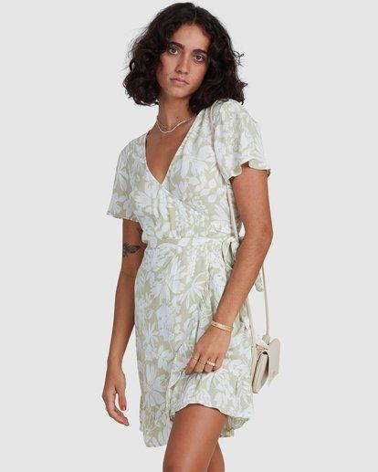 1 Honey Dew Wrap Dress Green ABJWD00382 Billabong