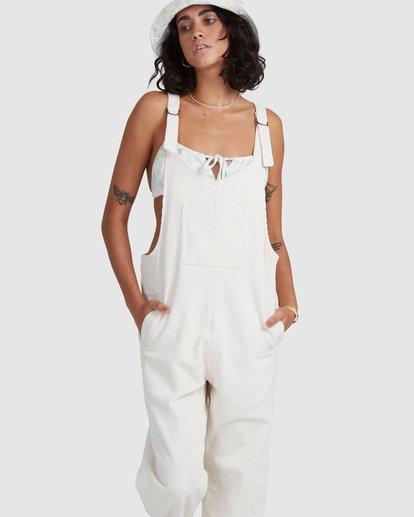 4 Tell Me Jumpsuit White ABJWD00385 Billabong